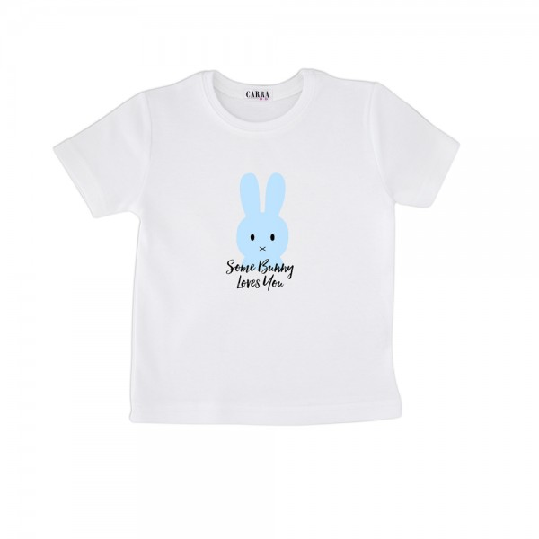 Carra Some Bunny Loves You Blue детска тениска